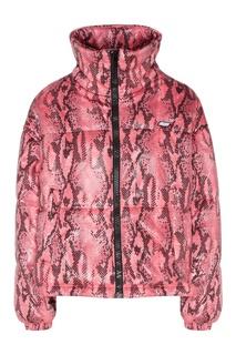 Розовая куртка с узором Msgm