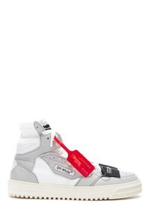 Высокие серые кроссовки Off White