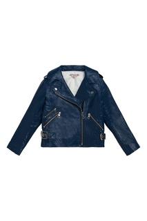 Синяя куртка со скошенной молнией Bonpoint