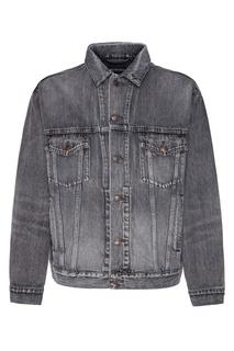 Серая джинсовая куртка с логотипом Balenciaga Man