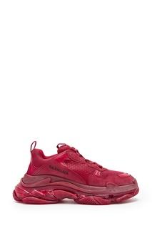 Бордовые кроссовки Triple S Balenciaga Man
