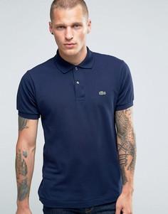 Темно-синяя футболка-поло классического кроя Lacoste - Темно-синий