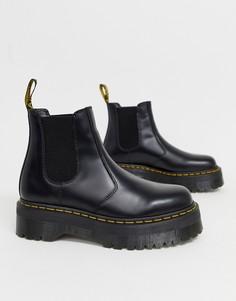 Черные ботинки челси на платформе Dr Martens 2976 Quad - Черный
