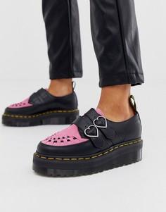 Розовые туфли-криперы Dr. Martens x Lazy Oaf - Розовый