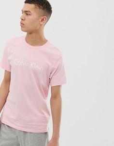 Розовая футболка для дома с круглым вырезом Calvin Klein - Розовый
