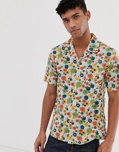 Рубашка с короткими рукавами и разноцветным цветочным принтом Pretty Green - Мульти