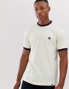 Серовато-белая футболка с контрастной окантовкой Pretty Green - Белый