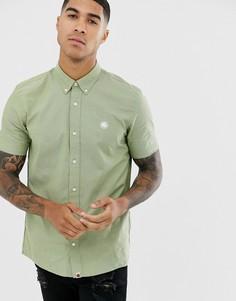 Оксфордская рубашка хаки с короткими рукавами Pretty Green - Зеленый