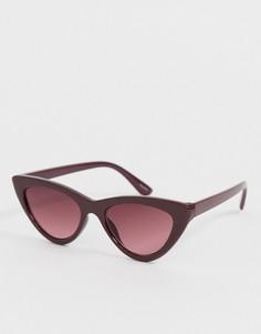 Красные узкие солнцезащитные очки кошачий глаз ALDO - Красный