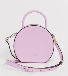 Розовая кожаная сумка через плечо Kate Spade Andi canteen - Розовый