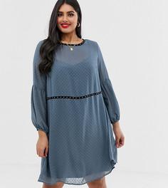 Платье в горошек с заклепками Koko - Синий