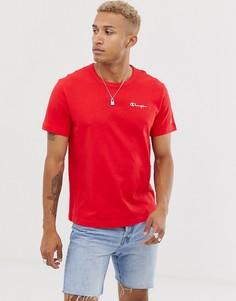 Красная футболка с небольшим логотипом Champion - Красный