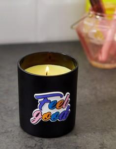 Черная свеча с надписью River Island - Розовый