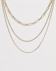 Ожерелье 3 в 1 Pieces - Золотой