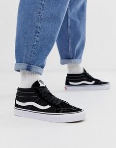 Черные кроссовки Vans Sk8-Mid - Черный