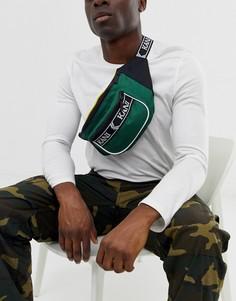 Зеленая сумка-кошелек на пояс с логотипом на ремешке Karl Kani Retro - Зеленый