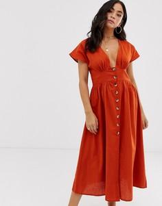 Пляжное платье на пуговицах Anmol - Оранжевый