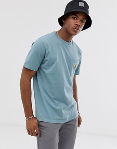 Синяя футболка с карманом Carhartt WIP - Синий