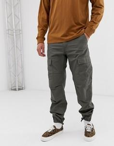 Зеленые брюки-карго слим Carhartt WIP Aviation - Зеленый