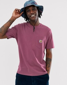 Футболка цвета фуксии с карманом Carhartt WIP - Розовый