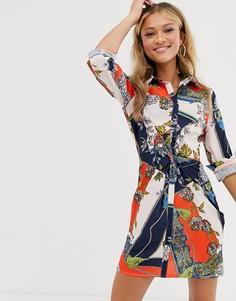 Платье-рубашка с принтом Parisian - Мульти