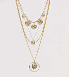 Золотистое многослойное ожерелье Monki - Золотой