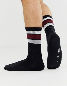 Черные носки с белыми полосками Carhartt WIP Grant - Черный