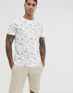 Белая футболка с цветочным принтом Selected Homme - Белый