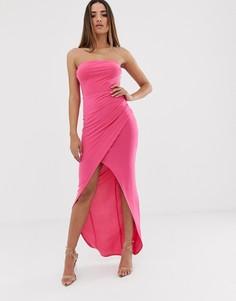Платье-бандо макси Club L London - Розовый
