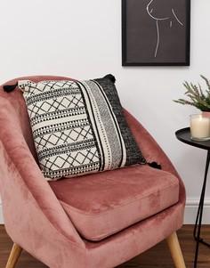 Подушка с ацтекским принтом и кисточками SIL - Мульти