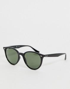 Круглые солнцезащитные очки с поляризованными стеклами Ray-Ban 0RB4305 - Черный