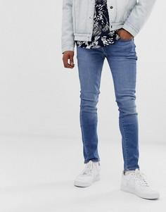 Супероблегающие джинсы с заниженной талией Levis 519 - cedar light mid overt - Синий