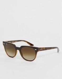 Солнцезащитные очки-вайфареры в черепаховой оправе Ray-Ban 0RB4368N - Коричневый