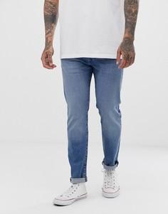 Светлые узкие джинсы с заниженной талией Levis 501 - Синий