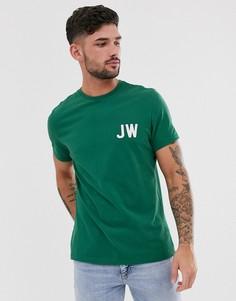 Зеленая футболка с логотипом Jack Wills Bedwyn - Зеленый
