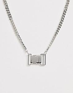Серебристое ожерелье с подвеской ASOS DESIGN - Серебряный