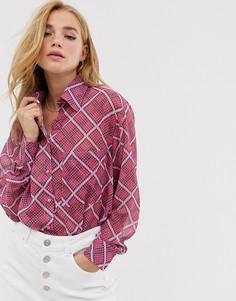 Рубашка на пуговицах Glamorous - Розовый