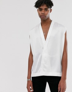 Белое кимоно без рукавов Heart & Dagger - Белый