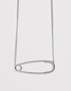 Ожерелье ASOS DESIGN - Серебряный