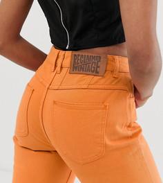 Выбеленные оранжевые суженные джинсы в стиле 89-х Reclaimed Vintage - Оранжевый