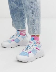 Белые массивные кроссовки с синими вставками Ellesse - Aspio - Мульти