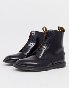Черные ботинки с 8 парами люверсов Dr Martens Winchester - Черный
