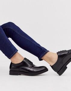 Черные лакированные туфли на шнуровке Base London Keats - Черный