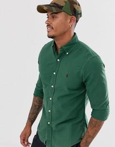 Зеленая приталенная оксфордская рубашка с логотипом Polo Ralph Lauren - Зеленый