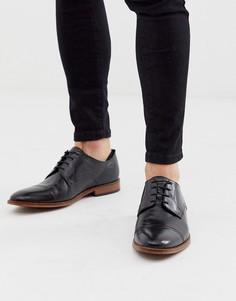 Черные туфли с отделкой на носке Base London - Черный