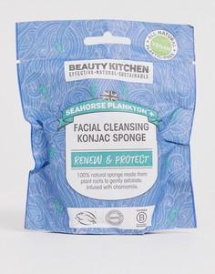 Очищающий спонж конняку для лица Beauty Kitchen - Seahorse Plankton - Бесцветный