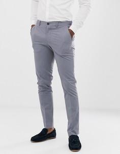 Голубые брюки узкого кроя Selected Homme - Синий