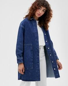 Синяя джинсовая рубашка Selected Femme - Синий
