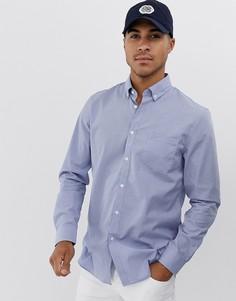 Рубашка с длинными рукавами и карманом на груди Lacoste - Синий