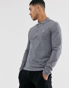 Серая футболка-поло с длинными рукавами Lacoste - Темно-синий